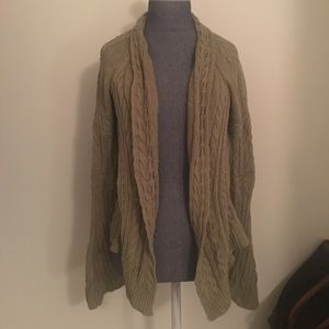 Anthropologie Moth Olive Knit Sweater Cardigan